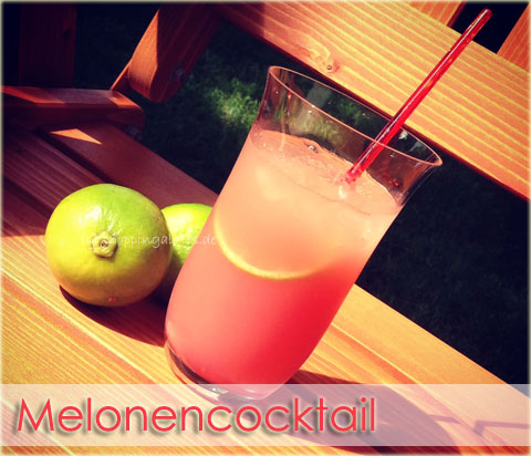 Sommercocktail mit Melone