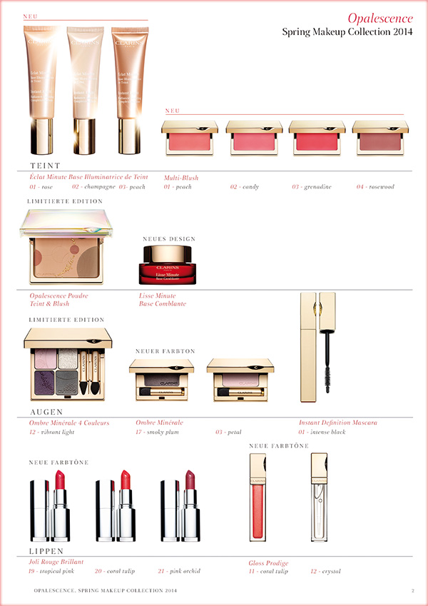 Clarins: Spring Makeup Collection 2014 – Opalescence